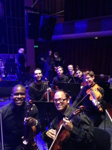 The viola section at the Brighton Dome